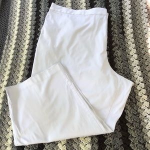 JACLYN SMITH  White Summer Crop Pants